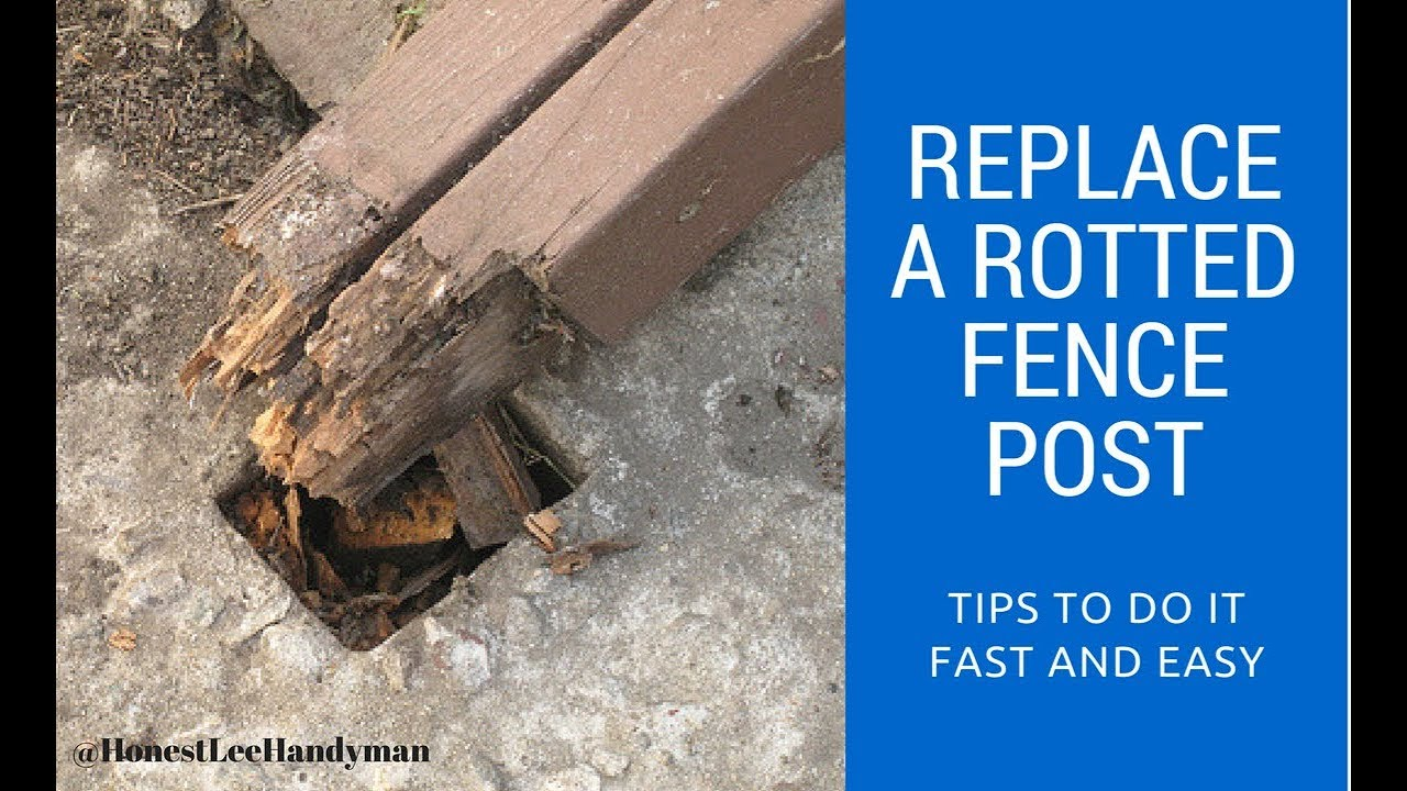 How to Replace a Rotted Fence Post / Handyman Business