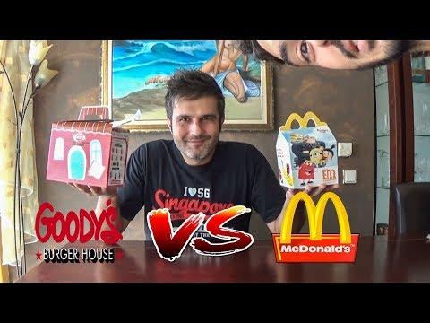 Δοκιμάζοντας Παιδικά Γεύματα!!! Goody's Vs Mcdonald's