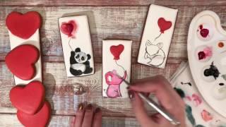 Имбирные пряники: Мастер - класс - День Святого Валентина / How to decorate Cookies /