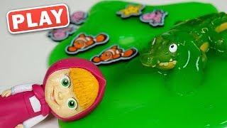 КукуPLAY - Крокодил, Слизь и Маша на рыбалке - Поиграйка с Анной