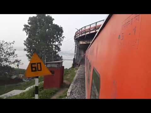 Rajdhani Express in Guwahati and Over Saraighat Bridge