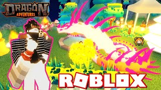 ROBLOX DRAGON ADVENTURES COBRA (Ocean Eyes) How to Use Potions How to SELL Items - MATERIAL SHUFFLE!