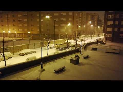 Gran nevada en la capital