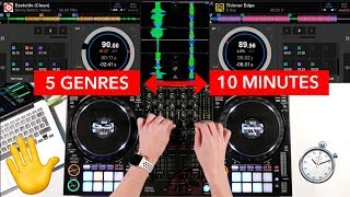 5 Genres in 10 Minutes (Mixing & Transition Ideas) - Pioneer DDJ 1000 DJ Mix