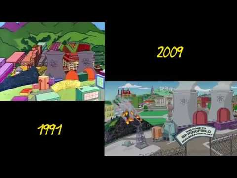 The Simpsons Intro (1991 vs. 2009) - Video