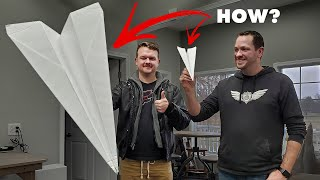 Giant Paper Airplanes!? 😱