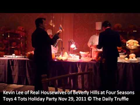 Real Housewives of Beverly Hills' Kevin Lee dancing at the Four Seasons Holiday party 2011