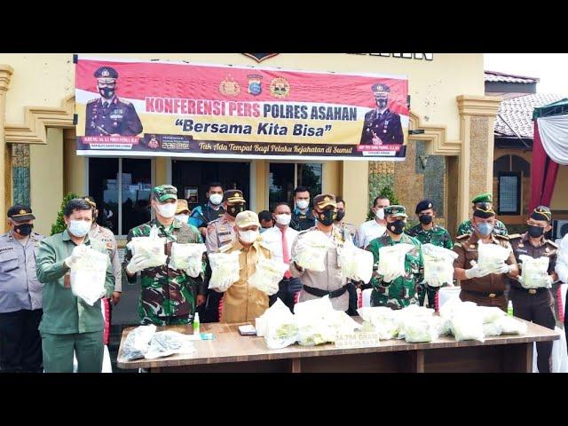 Bravo.. Polres Asahan Berhasil Tangkap Penyelundup Ribuan Gram Sabu