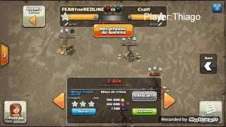 Clash of Clans:Guerra Fear The Red Line VS Csalt