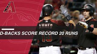 D-backs score franchise record 20 runs vs. Padres