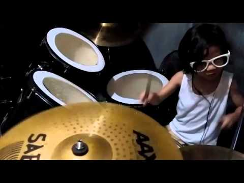 New Age Girl - drum cover by 5-year old drummer - DrumSeth