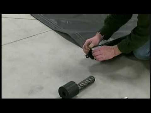 Srt 2 174 Spool Roll Tarp Install Step 4 Laying Out Tarp