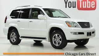 Chicago Cars Direct Presents a 2008 Lexus GX470 4WD. Blizzard Pearl White/Ivory.  X13374