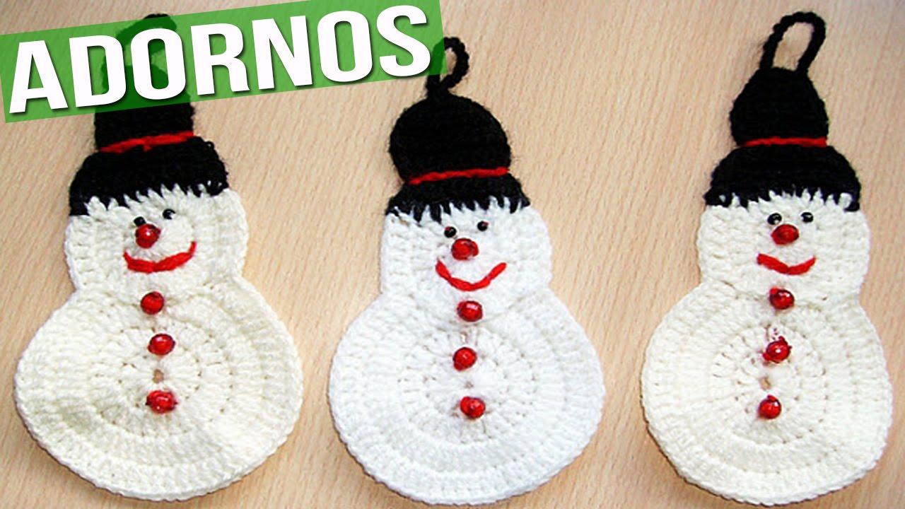 Adornos y colgantes de navidad tejidos a crochet - Como hacer cosas de navidad ...