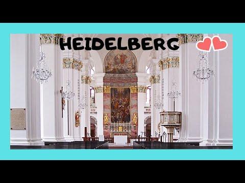 Heidelberg, inside the baroque Jesuitenkirche (Jesuit Church, Germany)