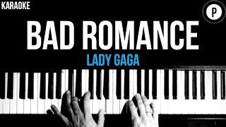 Lady Gaga - Bad Romance  Karaoke SLOWER Live Version Acoustic Piano Instrumental Cover Lyrics