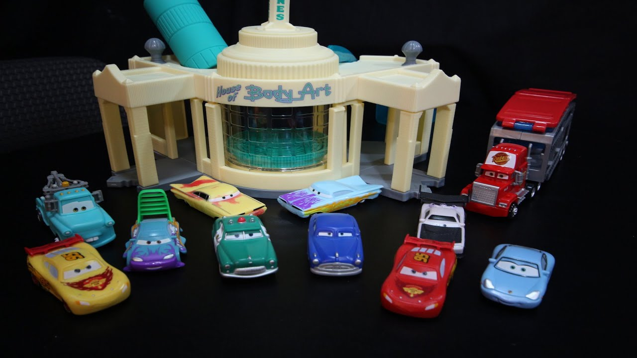 Disney Cars Ramones House Of Body Art Shop Color Changers Toys Collection Youtube