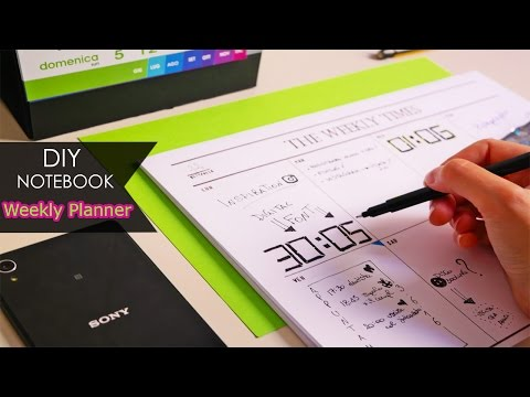 DIY Notebook ✎ Settimanale | Weekly planner