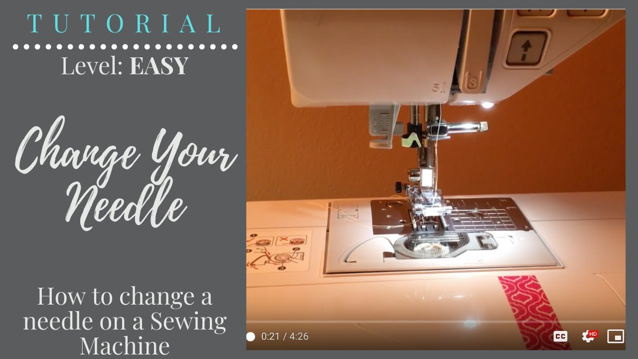 How To Change Your Sewing Machine Needle