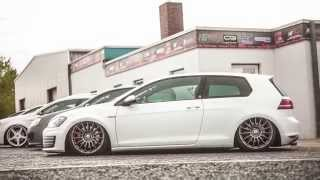 vw golf 7 gti ceekay style bull x exhaust tailpipes endrohre powered by hg motorsport