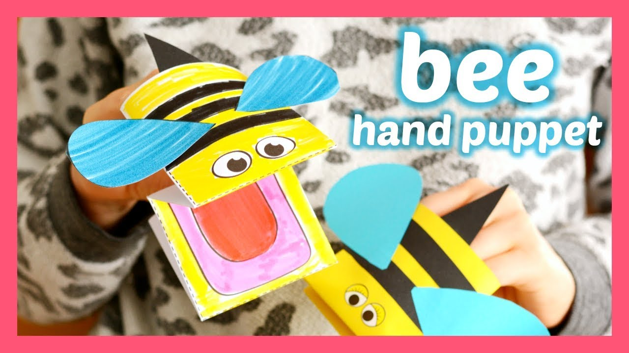 graphic regarding Hand Printable named How in the direction of Generate a Paper Hand Puppet Bee - printable template provided