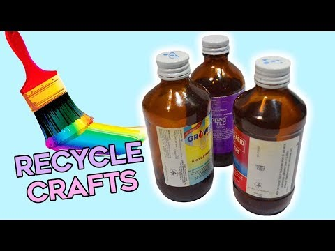 3 Quick And Easy Designs With Recycle Medicine Bottles Best Out Of Waste Youtube