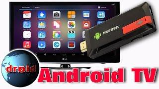 Clé usb android TV sur télévision LCD mini pc andoer MK809IV.