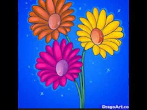 Sketsa Lukisan Bunga Yang Sederhana Youtube