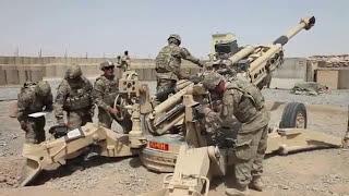 'Снайперская винтовка' калибр 155 мм / Тренировочные стрельбы в Афганистане