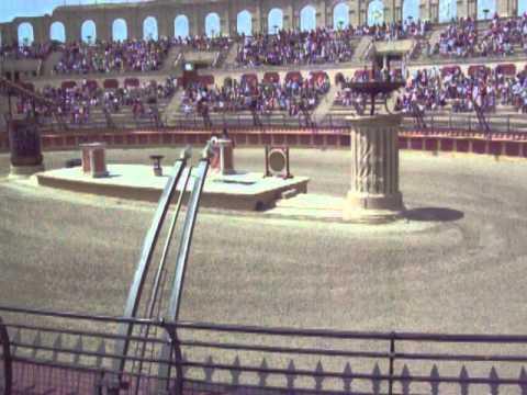 Roman Amphitheatre at Puy du Fou Theme Park in France