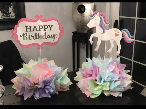 🦄🦄🦄(DIY) Centros de mesa de unicornio 🦄 🦄🦄( unicorn centerpiece for unicorn party🦄🦄)