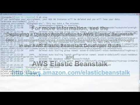 Webinar: Deploying a Django Application to AWS Elastic Beanstalk