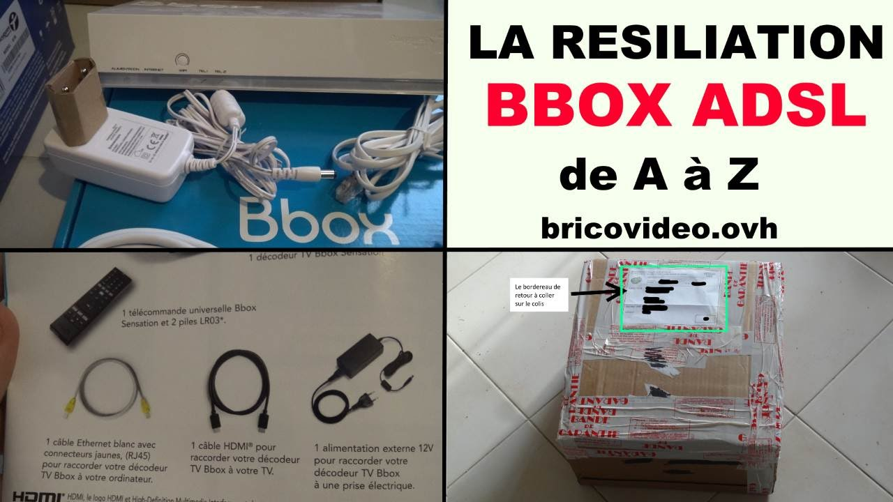 r siliation bbox bouygues t l com la proc dure sans frais postaux youtube. Black Bedroom Furniture Sets. Home Design Ideas