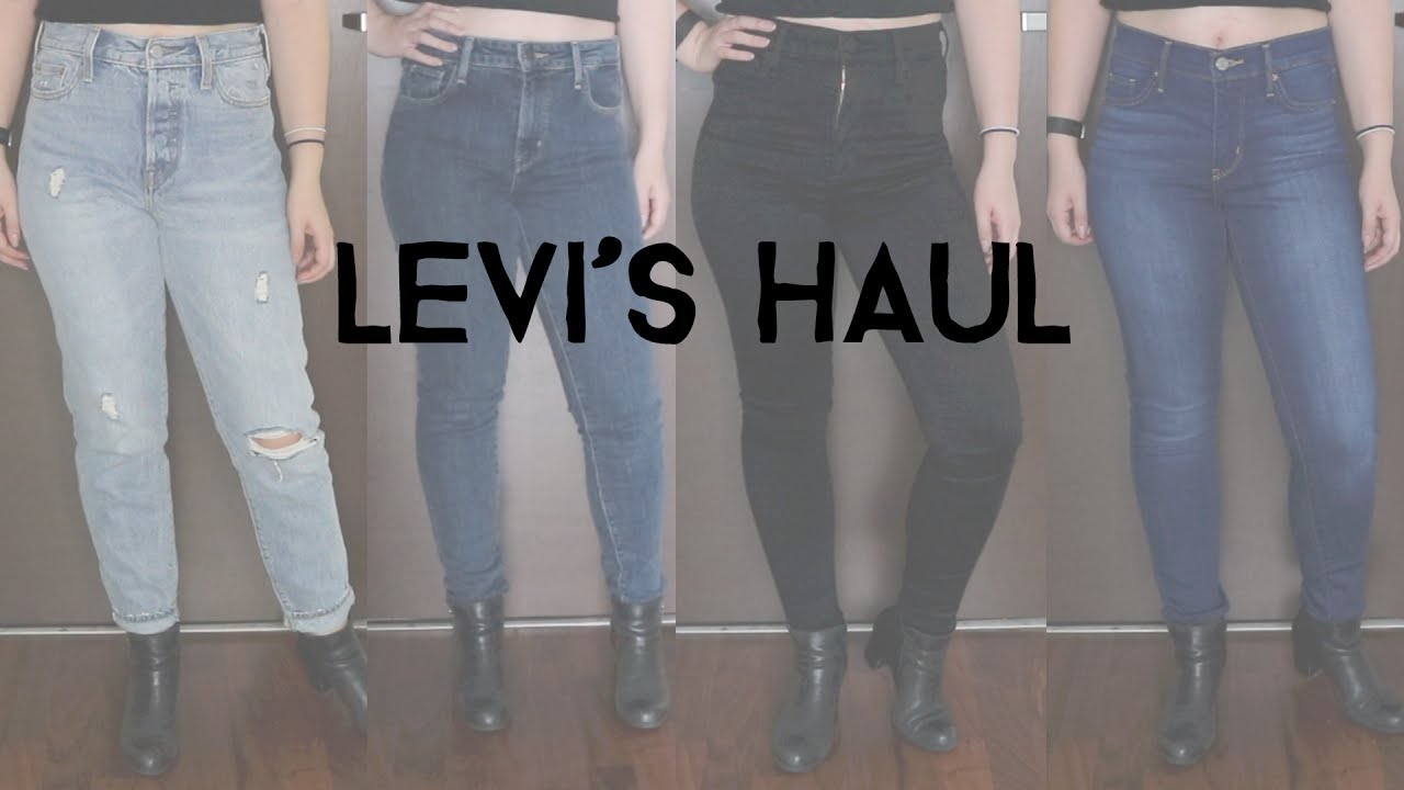 fcd08028 Levi's Haul + Try-On - YouTube