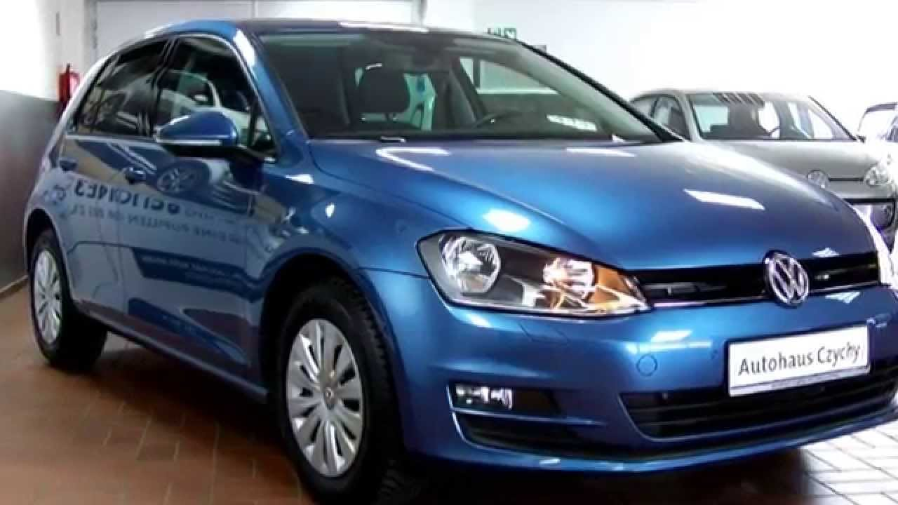 volkswagen golf vii 1 6 tdi trendline ew123644 pacific blue autohaus czychy youtube. Black Bedroom Furniture Sets. Home Design Ideas