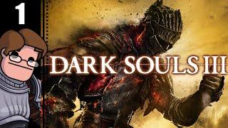 Let's Play Dark Souls 3 Part 1 - Iudex Gundyr Boss Fight (Herald Gameplay)