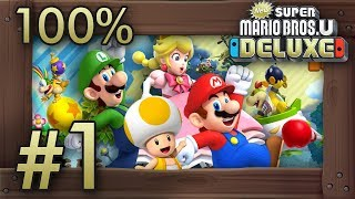 Baixar New Super Mario Bros. U Deluxe: 100% Walkthrough (4 Players) - World 1 - All Star Coins