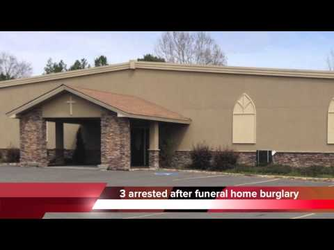 Valley Funeral Home in Stevenson, Alabama burglary