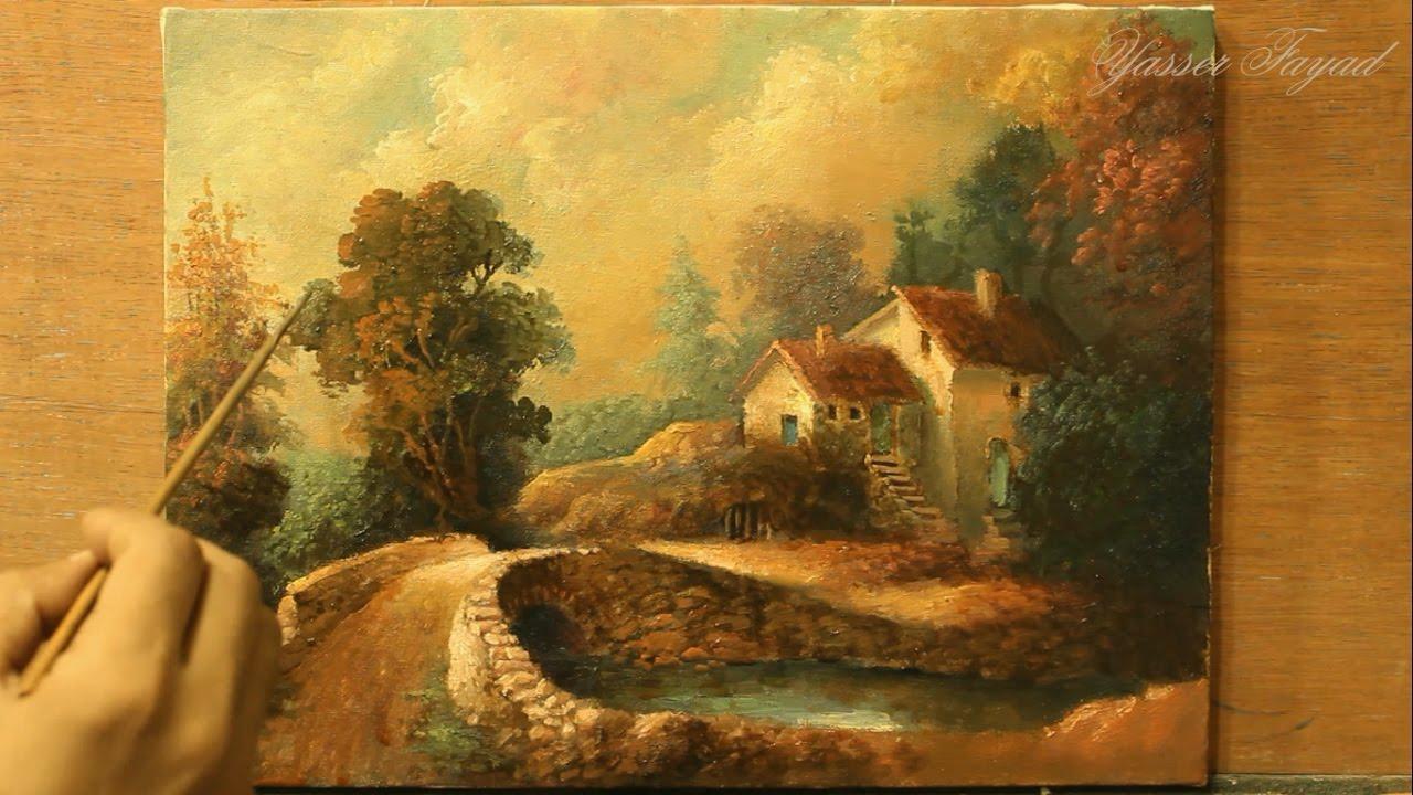classic oil painting landscape