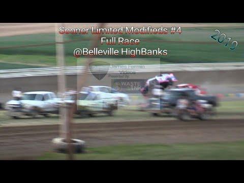 Sooner Limited Modifieds #4. Full Race, Belleville HighBanks, 07/04/19
