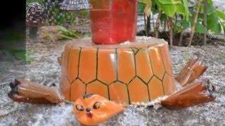 Забавная дачная поделка черепаха своими руками, веселые варианты