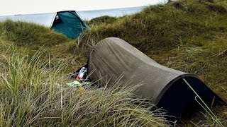 COASTAL WILD CAMP IN THE WIND AND RAIN | WINTERTON NORFOLK