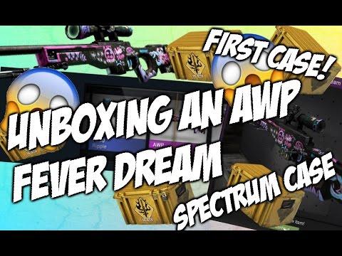 UNBOXING AN AWP FEVER DREAM! (SPECTRUM CASE) Ft. Bincetv