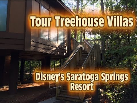 Tour Treehouse Villas at Disney's Saratoga Springs Resort & Spa Walt Disney World