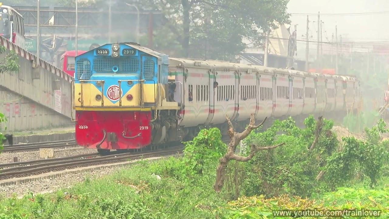 White metal snake Kalni Express interning Dhaka from Sylhet