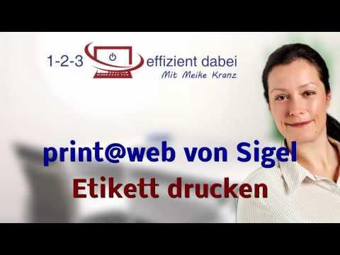 Print Web Von Sigel Etikett Drucken Und Fazit Youtube
