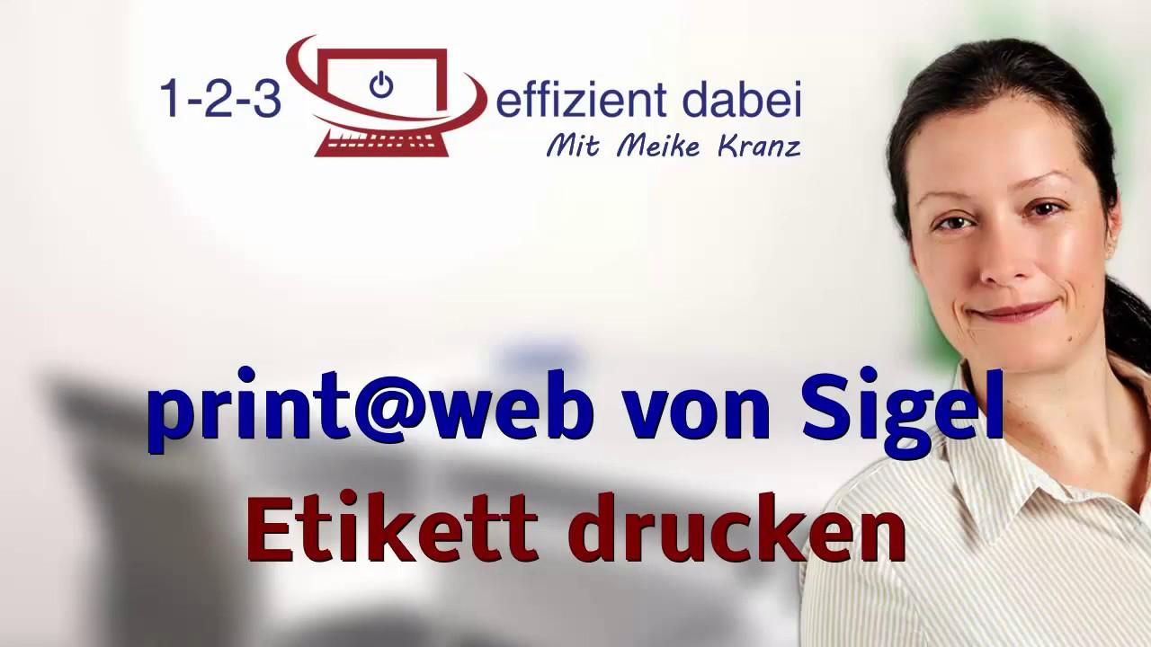 Print Web Von Sigel Etikett Drucken Und Fazit