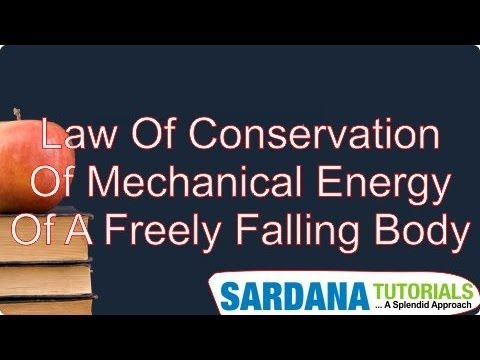 Law Of Conservation Of mechanical Energy Of A Freely Falling Body