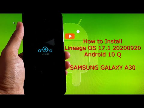 Lineage OS 17.1 for Samsung Galaxy A30 Android 10 Q 2020-09-20