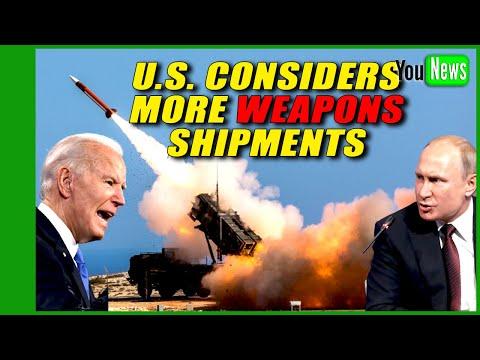 U.S. considers more weapons shipments to Ukraine amid Russian buildup.